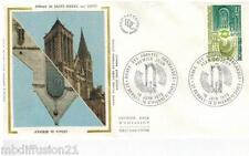 1979**ENVELOPPE SOIE**FDC 1°JOUR**ABBAYES NORMANDES**TIMBRE Y/T 2040