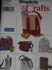 Shopping Bags Tote Bottle & Wine Holder Cell Bag Sewing Pattern Simplicity 9658*