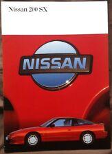 NISSAN 200SX CAR SALES BROCHURE 1989 #1000589 GERMAN TEXT