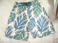 "BNWT -  WEIRD FISH Foliage Print  Boardshorts - White   34 ""  Waist"
