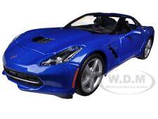 2014 CHEVROLET CORVETTE C7 COUPE LIGHT BLUE 1/24 MODEL CAR  BY MAISTO 31505