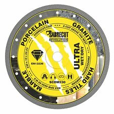 SabreCut 230mm Thin Turbo Diamond Grinder Cutting Blade Disc for Tiles 9 inch