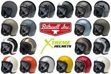 Biltwell Bonanza Helmet 3/4 Open Face Motorcycle DOT Fury Tracker Racer XS-2XL