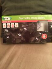 30 Solar String Lights Integrated LED Crystal STARS Outdoor String Light Set NEW