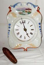 Alte Schilderuhr Porzellanschilduhr Schwarzwalduhr Wanduhren Uhr Regulator Uhren