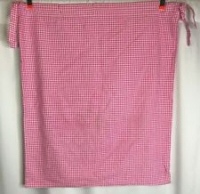 Pottery Barn Kids Sabrina Hamper Liner Pink Gingham Check Drawstring Double Tie