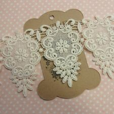 Embroidered Embroidery Cotton Crochet Lace Trim 8.3cm Wide Ivory 1Yd