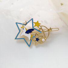 star drop oil dream unicorn hair clip