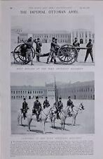 1897 BOER WAR TURKISH ARMY 1ST BRIGADE PERA ARTILLERY REGIMENT AND STANDARD