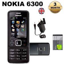 New Condition Nokia 6300 Black Unlocked Camera Bluetooth Classic Mobile Phone