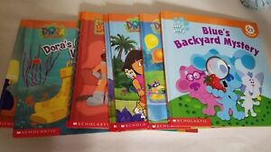 LOT OF 9 Scholastic Nick Jr Book Club Books Dora Oswald Blues Clues Books
