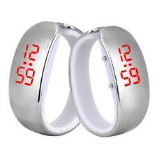 Sport LED Digital Uhren Damen Uhr Silber Mode Bracelet Armbanduhr Wasserdicht