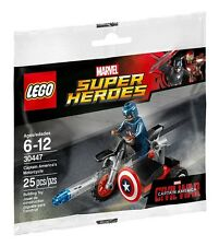 LEGO 30447 - Super Heroes Captain America's Motorcycle - Poly Bag Set