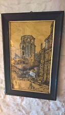 Heidelberg Schloss Altan beeindruckendes Bild signiert: H.Remy Weihnachten 1908