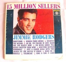 Jimmie Rodgers 15 Million Sellers Roulette R 25179 Vintage Vinyl Record Country