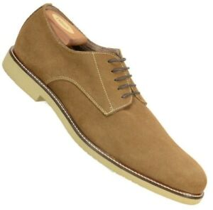 Banana Republic Mens Oxfords Size 13M Brown Suede Leather Lace Up Shoes