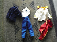 Lot of 2 Barbie Ken Doll Outfits Look