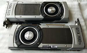 TWO (2) NVIDIA EVGA GeForce GTX 780 Ti graphics/video cards, SLI bridge included
