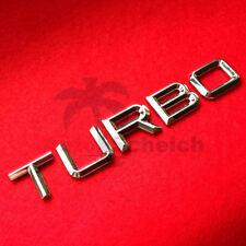 Turbo Emblem Zeichen Chrom Schriftzug Auto Aufkleber Motorhaube Kotflügel Logo