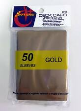 200 Magic MTG Gaming Card Gold Protector Sleeves CP02