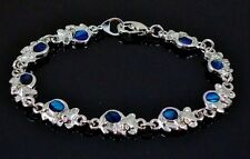 Gorgeous 6.75 Inch Blue Koala Tiny Bears Bracelet genuine Paua Shell inlay