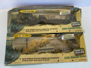 Forces of Valor 1:72 scale, U.S. M26 Dragon Wagon, German Tiger Soldiers Set LOT