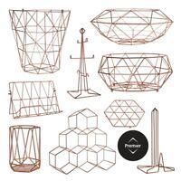 Copper Plated Vertex Storage Accessories Kitchen Racks Baskets Holders Stands