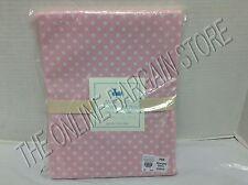 "Pottery Barn Kids Mini Polka Dot dottie Bathroom Bath Shower Curtain Pink 72"""