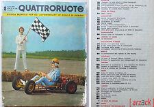 QUATTRORUOTE N 68 Agosto 1961 DKW JUNIOR LANCIA FLAVIA SINGER VOGUE SIMCA 1000