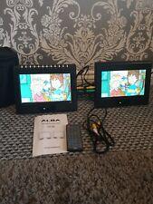 "Alba DVD-293 9"" LCD Twin Dual Screen Portable In Car Home DVD Player caravan/"
