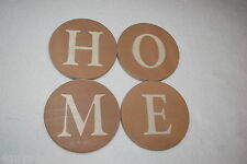 "Home Decor HANGING SIGN LETTERS Arrange as Desired H O M E Circles 5"" DIAM Home"