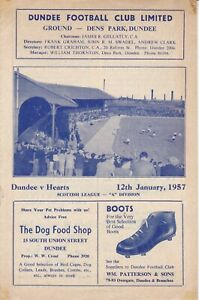 Dundee Home Programmes 1958/1959 - 1969/1970