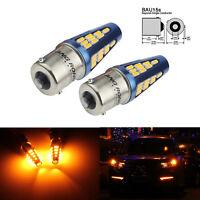 2x PY21W BAU15s Ampoule 48 SMD 5W LED Clignotant Feu de Recul Orange Jaune 9-30V
