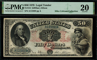 "1878 $50 Legal Tender FR-154 - Graded PMG 20 ""Comment"" - Very Fine"