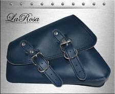 2004 & UP La Rosa Blue Leather Harley Sportster Nightster Left Solo Saddle Bag