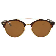 Ray Ban Round Brown Clubround Double Bridge Tortoise Sunglasses