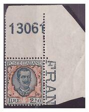 REGNO 1926  - FLOREALE  -  LIRE 2,50   NUOVO  **  NUMERO DI TAVOLA