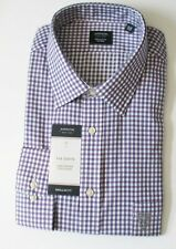 Arrow Mens Classic Fit Plaid Long Sleeve Dress Shirt Wisteria Sz XL - NWT