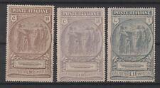 Italy - 1923 Black Shirts Benevolent Fund Set Mint, Scott B17-19, CV $97.50