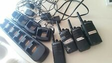 4 Motorola CP110 UHF Two-way radios + Multi unit charger Compatible with RDU2020