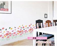 Flower Butterfly Grass Wall Sticker Vinyl Art Decal Mural Kid Room Nursery Decor