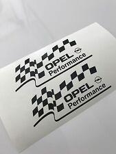 2x OPEL Performance Aufkleber Car Window Bumper Sticker Vinil Decal 118
