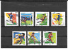 FRANCE 2016. FOOTBALL 10 GESTES.LOT DE 7 TIMBRES AUTOADHESIFS CACHETS RONDS