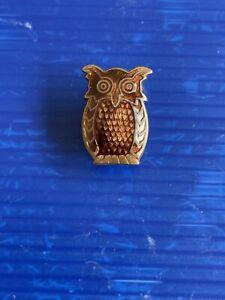 Very Old Vintage Girl Guides Brownies Tawny Owl Assistant Leader Enamel Pin 1960