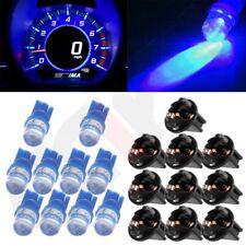 10x Blue T10 168 194 LED Bulbs Instrument Gauge Cluster Dash Light W/ Sockets
