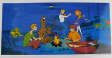 Hanna Barbera.Laminated Cel Promo Binder Page A Clue for Scooby Doo