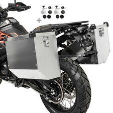 Alukoffer Motorrad Set Bagtecs Atlas 36-41L + Anbausatz für Kofferträger