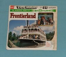 vintage WALT DISNEY WORLD -- FRONTIERLAND VIEW-MASTER REELS packet with booklet