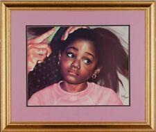 """African American Black Art Print """"TENDERHEADED - LG"""" by Leonard Freeman"""