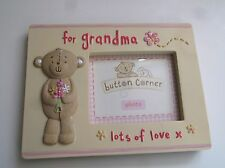 Photo frame saying For Grandma Lots of Love - by Button Corner - Perfect Present